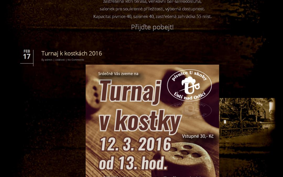 Web Pivnice U skoby, Ústí nad Orlicí