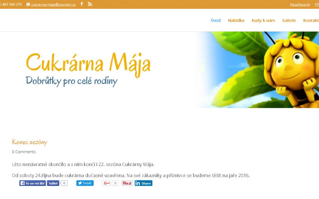 Web pro Cukrárnu Mája