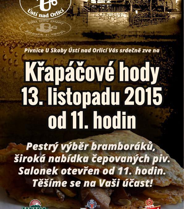 Křapáčové hody 2015, Pivnice U skoby-POSTER/FLYER