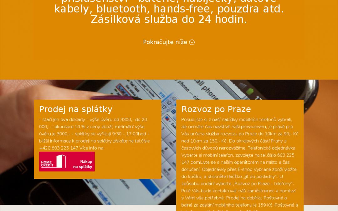 E-shop pro 1-2umobil.cz