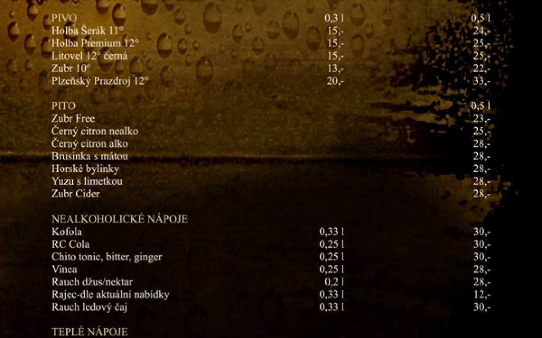 Nápojový lístek 2016/Pivnice U skoby
