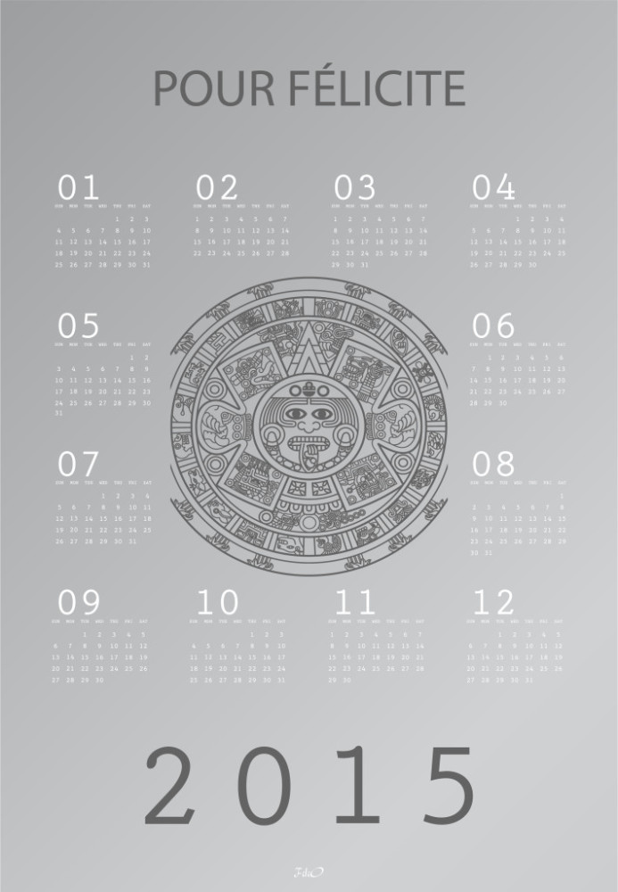 2014 calendar 1A