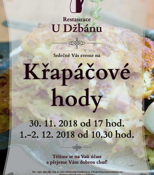 Restaurace U Džbánu-Křapáčové hody 2018