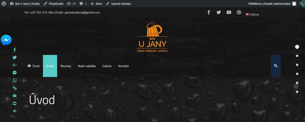 Bar U Jany | Web | WordPress