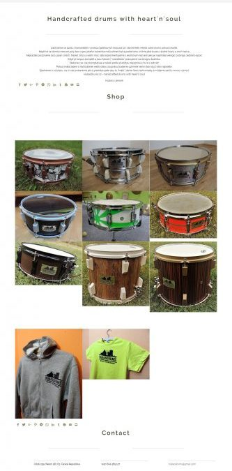 Hubas Drums | Web | Shop | WordPress | WooCommerce