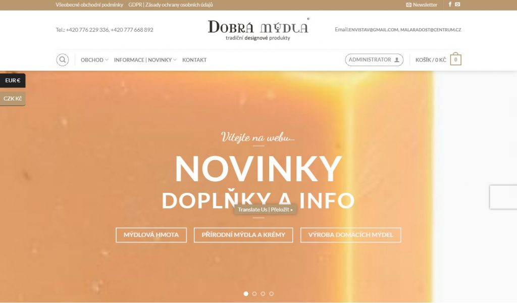 Dobrá mýdla | E-shop | WordPress/WooCommerce
