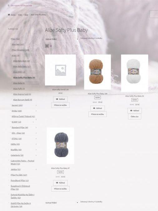 Vlnovka-prodej přízí a doplňků | E-shop | WordPress/WooCommerce
